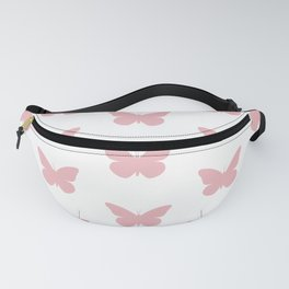 Coral Butterfly Pattern and Print Fanny Pack