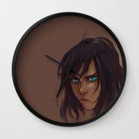 avatar Wall Clocks featuring The Avatar by Gretlusky
