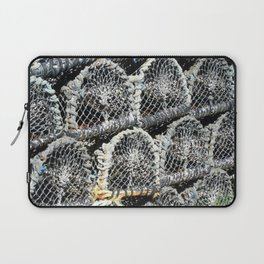 Fish traps at the harbour Laptop Sleeve
