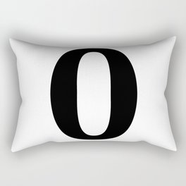 0 (BLACK & WHITE NUMBERS) Rectangular Pillow