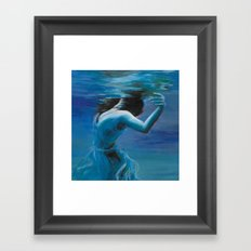 Just Floating Framed Art Print