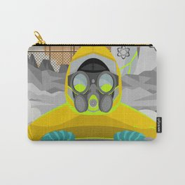 radioactive biohazard suit man on nuclear meltdown Carry-All Pouch