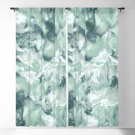 Marble Mist Green Grey Blackout Curtain