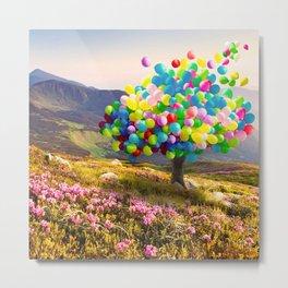 When Balloon Bloom Metal Print