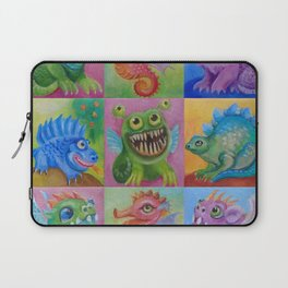 Baby Dragon Funny Monster Comic Illustration Painting for children Nursery decor Laptop Sleeve