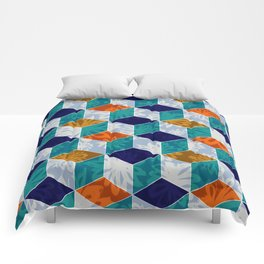 Cube Floral Comforters