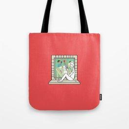 Plenty of imagination: the man in love. Tote Bag