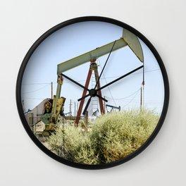 Oil Rig I Wall Clock