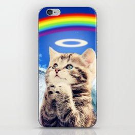 rainbow cat iPhone Skin