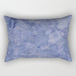 Maura Azzurro blue marble Rectangular Pillow