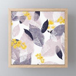 Abstract leaves Framed Mini Art Print