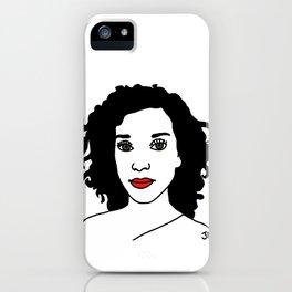Annie Clark of St. Vincent Illustration iPhone Case