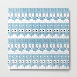 Blue Bunny Rabbit - Super Cute Animals Metal Print