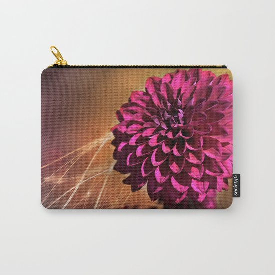 Red dahlia light effect Carry-All Pouch