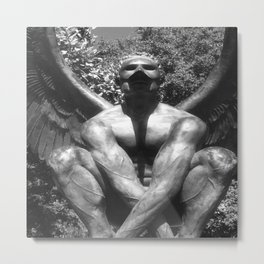 """The """"Wings of the City"""" sculpture exhibit by Mexican Artist Jorge Marín. Metal Print"""