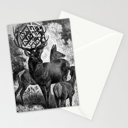 Metatrons cube hypercube Stationery Cards