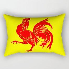 Flag of wallonia - Drapeau wallon,wallonie,Belgique,Belge,Bruxelles,France,Mons,Charleroi,coq,jaune Rectangular Pillow