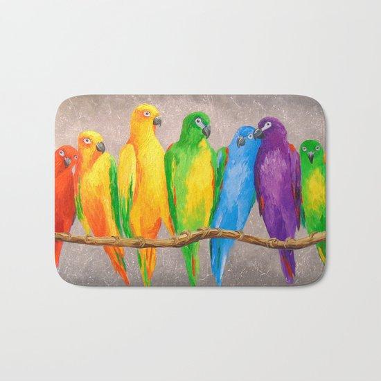 Parrots friends Bath Mat