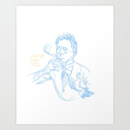 Smoking Art Print