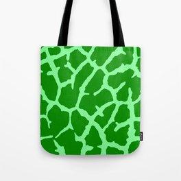 Green Giraffe Print Tote Bag