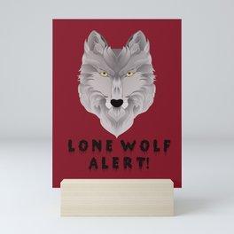 LONE WOLF ALERT Mini Art Print