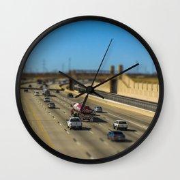 Oklahoma Highway by Monique Ortman Wall Clock