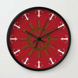 Anchor Away Wall Clock