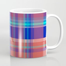 Striped 2X Blue and Red Coffee Mug