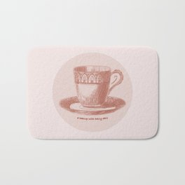 A Teacup With Hairy Ears Bath Mat