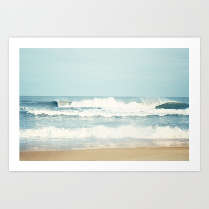 Ocean Photography, Calming Sea Photo, Blue Waves Seascape Photograph, Beach Print Kunstdrucke
