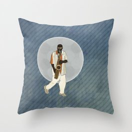 Saxophone Musician Throw Pillow