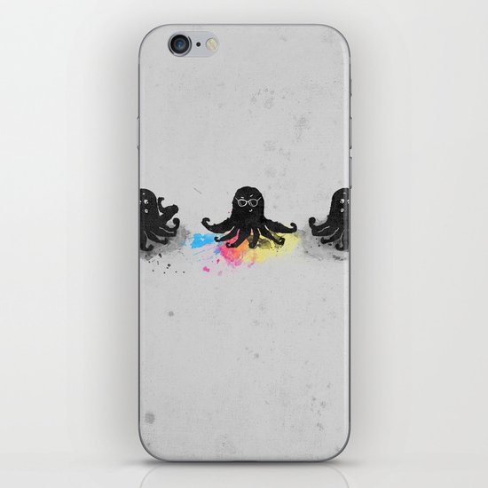 4-color squid iPhone & iPod Skin