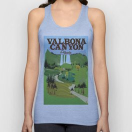 valbona canyon, Albania holiday poster. Unisex Tank Top