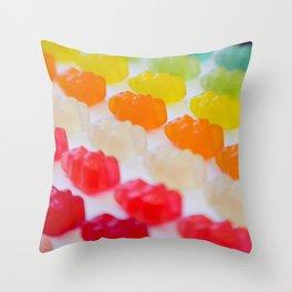 Gummy Bears Rainbow Throw Pillow