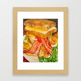 Double Vortex Burger Framed Art Print