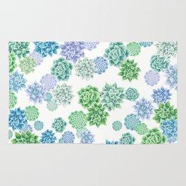 Floral succulent pattern Rug