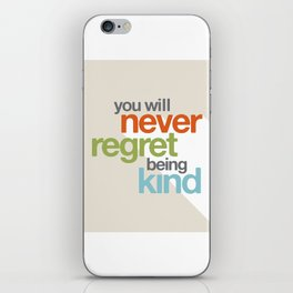 Be Kind iPhone Skin