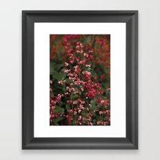 Little Red Flowers Framed Art Print