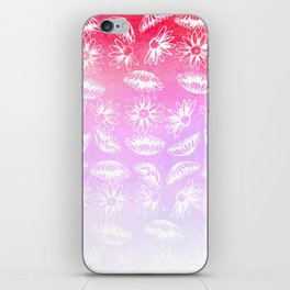 Modern hand painted lilac violet pink watercolor white floral iPhone Skin