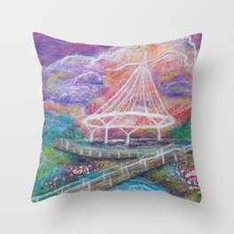Blooming at Cancer Survivors Park Throw Pillow