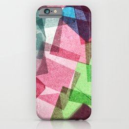 Colorful Abstract Tissue Paper Collage iPhone Case