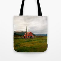 alaska Tote Bags featuring Alaska by Julia Blanchette