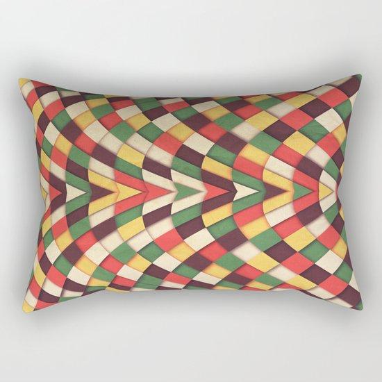 Rastafarian Tile Rectangular Pillow