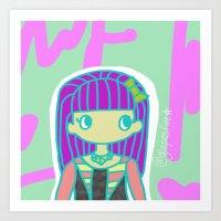 jojo Art Prints featuring Jojo by Glopesfirestar