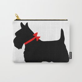Scottie Dog with Red Bow Carry-All Pouch