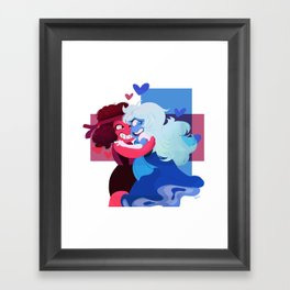 Ruby and Saphire Framed Art Print