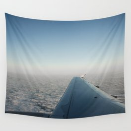 Wing in the clouds Wall Tapestry