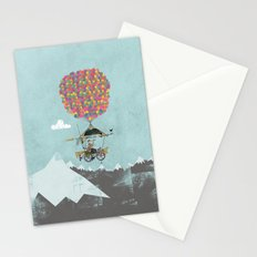 Riding A Bicycle Through The Mountains Stationery Cards