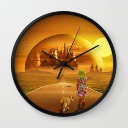 On the way to the fairyland Wall Clock