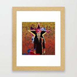 Black Star, Golden Boy Framed Art Print